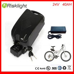 Wholesale Ebike 24v - Portable 24v 700w 40ah li ion electric bike battery 24volt 18650 battery pack with BMS for frog ebike