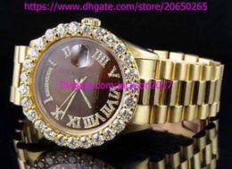 Wholesale Watch Roman Gold - High Quality Christmas gift Luxury mens watches wristwatch 18K Mens Yellow Gold President 41MM Roman Diamond Watch Automatic Mens Watch Wat