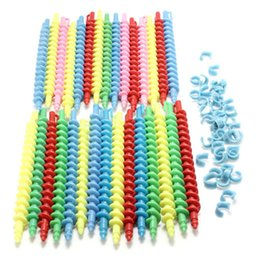 Wholesale Magic Perm - 25pcs Plastic Styling Hair Rollers Curler Magic Spiral Perm Rod Bars Salon Hairdressing Tools Baber Rotating Screw