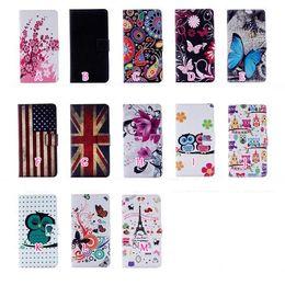 Wholesale Eiffel Tower Wallets - Butterfly Eiffel Tower UK USA Flag Flower OWL Wallet Leather For Galaxy S8 Plus S7 edge Plus Active C5 C7 J120 A3 A5 S6 Edge Plus Zebra Flip