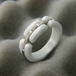 Wholesale Titanium Wedding Rings For Couple - Fashion jewerly 316L Titanium Steel ceramics 18K rose gold plated Gold screw love Ring For Women wedding Ring 18K Gold plated Fine jewelry