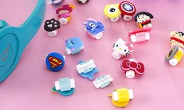 Wholesale Wholesale Iphone 4s Charging Cord - Cartoon Cable Protector Data Line Cord Protector Protective Sleeves Cable Winder Cover For iPhone 7 Plus 6 5 4 4S USB Charging Cable