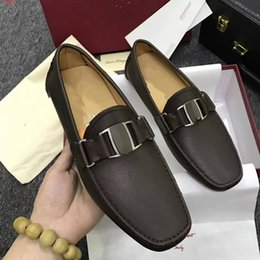Wholesale Cheap Platforms - With Box 2017 Cheap Espadrilles Slip-on leisure breathable Sneake men's sports shoes Breathable Genuine Patent Leather Platform Espadrille