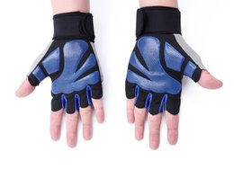 Wholesale Tennis Machines - Fitness gloves for men and women, the power training of the men and women in machine is a half finger protection of the wristband