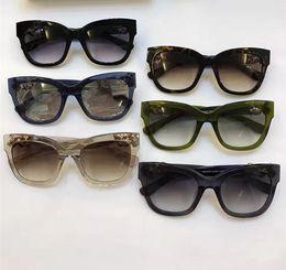 Wholesale Semi Jewels - Women Jimmy Maggie S Black Grey Jewel Sunglasses Transparent Square Sunglass Fashion Designer Brand Sunglasses New with Box
