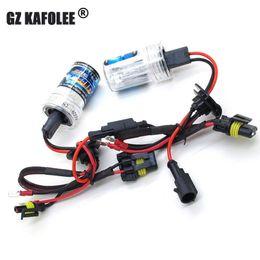 Wholesale Hid High Beams - 2pcs xenon Bulb HID 6000k headlight H1 H3 H4 H7 H8 H9 H11 9005 9006 9012 880 881 55w car fog light