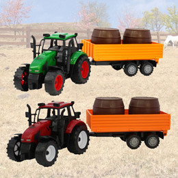 Wholesale Friction For Kids - Big farmer truck set Tractors Trailers trucks model car inertia toy friction vehicles high simulation models farms vehicle toys gift for kid