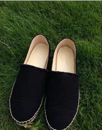 Wholesale Thick Sole Canvas Shoes - New Arrival Top Quality Designer Luxury Famous Brand Thick Soles Ladies Canvas Espadrilles Casual Ladies Loafers Shoes Women Plus size