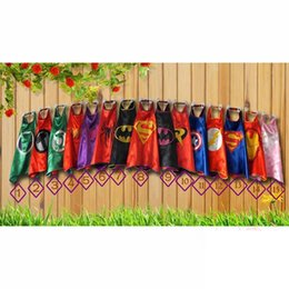 Wholesale Wholesale Performance Clothing - Superhero capes baby kids cosplay party Single layer cape L70*W70cm Halloween Batman Spiderman Costumes clothing
