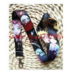 Wholesale Key Chain Naruto - Wholesale Naruto Lanyard with Lobster Clasp Fit Key ID Mobile Cell Phone Key chain HY01