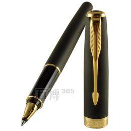 Wholesale Blue Pen Parker - Parker roller Pen School Office Supplies matte black parker pens office supplies Stationery sonnet roller ball pen promotion