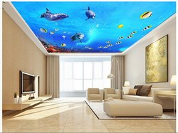 Wholesale Dreams Chinese - 3D photo wallpaper custom 3d ceiling wallpaper Dream underwater world background ceiling decoration wall paper 3d living room wall decor