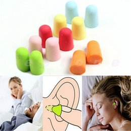 Wholesale Wholesale Ear Plugs - Bag pack Soft Foam Ear Plugs Tapered Travel Sleep Noise Prevention Earplugs Noise Reduction For Travel Sleeping B50Q