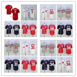 Wholesale Army Jerseys - 2017 new Washington Nationals 7 Trea Turner 34 Bryce Harper 20 Daniel Murphy 28 Jayson Werth 37 Stephen Strasburg 31 Max Scherzer jerseys