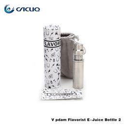 Wholesale E Liquid Stainless - Original Vpdam Stainless steel material empty e juice bottles protable e juice liquid bottle empty dropper bottle ss eliquid bottle for ecig