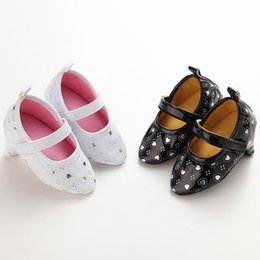 Wholesale Party Shoe Baby - Baby First Walkers Soft Sole High-heeled shoes Baby Girl Ballet Party Shoes C190