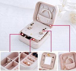 Wholesale Jewelry Fabric Packaging - New Jewelry Packaging Box Casket Box For Exquisite Makeup Case Cosmetics Beauty Organizer Container Boxes Graduation Birthday Gift