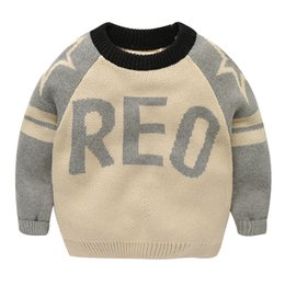 Wholesale Jumpers Clothing For Kids - Baby boys Clothes Knitted Pullover Sweater for infant Winter Fashion Kids Sweaters Children Clothes Pullover