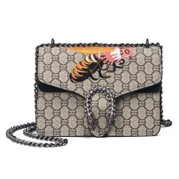 Wholesale Leopard Satchel Handbags - 2017 New Hot Fashion Brand Designers Women Printing Cross Body Bags High Quality Handbag Shoulder Bag Chain Messenger Bags Wholesale Retail