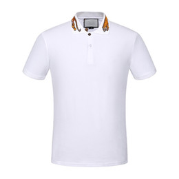 Wholesale Polo Clothes - NEW HOT Men skulls Polo shirts summer fashion calssic luxury brand clothing short sleeve Business & Casual solid male polo g t shirts