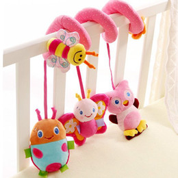 Wholesale Cartoon Baby Cot - Wholesale- Baby Kids Cot Spiral Hanging Decoration Butterfly Stroller Toys Seat Pram Gifts