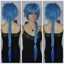 Wholesale Magi Aladdin - Free Shipping>>Cosplay Wig Flute MAGI Aladdin COS Wig Blue Wig Styling Hair Braids
