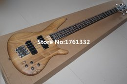 Wholesale Bass Guitar Natural Electric - wholesale Wholeasle factory custom 24 frets 4 strings natural wood color matt electric bass guitar,rosewood fingerboard,can be changed