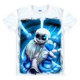 Wholesale White Fancy Tops - Fashion Games Undertale Skull Brother Printed T-shirts Fancy T Shirt Short Sleeve Tees O-Neck Men   Women Summer Tops