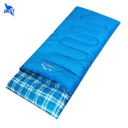 Оптовая продажа-220*80 см Сплайсированные пара конверт спальный мешок водонепроницаемый тепловой зима спальные мешки открытый кемпинг аксессуары Sleepingbag от