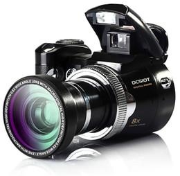 Wholesale Digital Electronic Frames Video - 16Mp Max Digital Camera Protax Polo DC510T SLR Shape Camera 5MP CMOS 8X Zoom Camera HD 720P Video Li-Battery FREE SHIPPING NEW