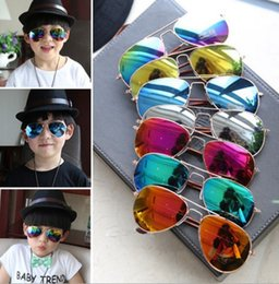 Wholesale Wholesale Aviator Sunglasses - New Fashion Unbreakable Safe Light Boys Kids Children's sunglasses UV400 Aviator Style Brand Design Children Sun Glasses