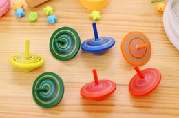 Wholesale Wholesale Wooden Spinning Top - Wholesale- Classic color Toys Gift Beyblade Toy Amazing Multifunctional Manual Whirlwind UFO wooden Gyroscope Toy Spinning Top Children WYQ