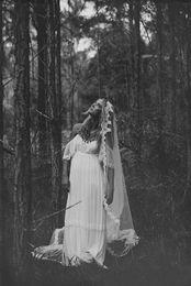 Wholesale Goddess Long Gown - Spaghetti Lace Wedding Dresses Vintage Chiffon Long Beach Bridal Gowns Informal Bridal Gowns Goddess 2017 Custom Made Beach Garden Cheap New