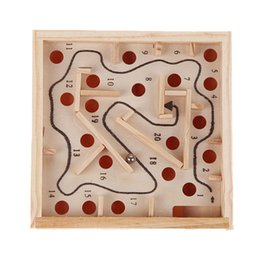 Wholesale Mini Brain - Children Educational Toys Wooden Game maze puzzle Toys Brain Teaser Puzzle Toy Mini Maze Intellectual Development Toy