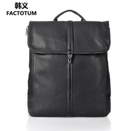 Wholesale Tiding Leather Bag Men - Fashionable delicate lock buckle casual shoulder bag tide big capacity snake grain student backpack simple fine leather double shoulder bag