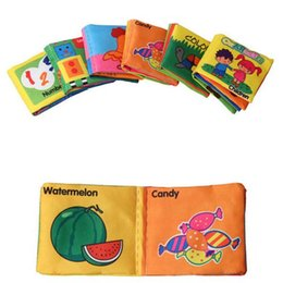 Wholesale English Cartoon For Children - Baby Toys 0-12 Months Baby Books English Language Rattles Infant Crib Cloth Educational Kids Toys for Newborns Children b993