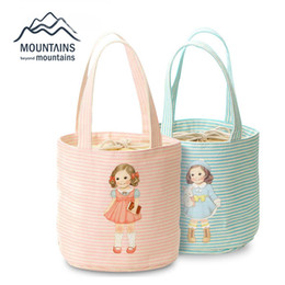 Wholesale Little Girls Pouches - Wholesale- Little Girl Pattern Versatile Bento Pouch Picnic Container Thermal Insulated Cooler Bag Picnic Box High Quality Tote For People