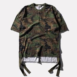 Wholesale Boys Camo Long Sleeve - Summer Camo T-Shirt Mens Hip Hop Street Wear Short Sleeve O-Neck Oversized Loose Tee Shirt Boys Skateboards Tops 100% Cotton LHG0406