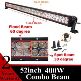 Wholesale Offroad Spotlights - 52 Inch 400W 100 Car Led Light Bar Super Bright LED Working Light Spotlight 30 ° Floodlight 60° Combo Beam 4x4 Offroad Car Lamp Bulb 10-30V