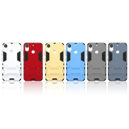 Wholesale desire gold - For HTC Desire 10 Lifestyle Pro Ironman Hybrid Hard PC+TPU Case For Sony Xperia XZ,X Compact 2in1 Shockproof Kickstand Dual Layer Cover