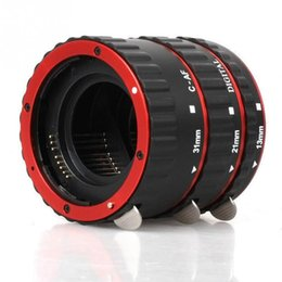 Wholesale Extension Lens - New Metal Mount Auto Focus AF Macro Extension Tube Ring for Kenko Canon EF-S Lens T5i T4i T3i T2i 100D 60D 70D 550D 600D 6D 7D