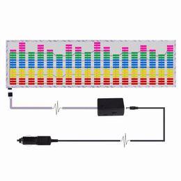 Wholesale Equalizer Sticker Light - 90*25 CM Colourful Music Rhythm Pattern Car Sticker EL Sheet Music Equalizer Car Windshield Sticker Sound Activated Light