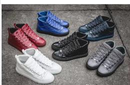 Argentina Arena Sneakers para hombre Súper calidad piel de oveja cuero genuino diseño superior marca arena zapatos moda kanye west zapatillas altas cheap super quality shoes Suministro