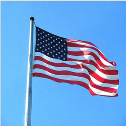 Wholesale ft feet - 100% Polyester USA US Flag 90cmx150cm American Flag FT United States Stars Stripes Be Proud Show off Your Patriotism 3 * 5 Feet DHL