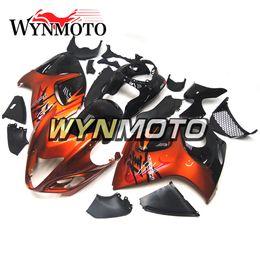 Wholesale Hayabusa Black Orange - Complete Fairing Kits For Suzuki GSX R1300 GSXR1300 Hayabusa 2008 - 2015 09 10 11 12 13 14 Motorbike Fairings Orange Black Cowlings