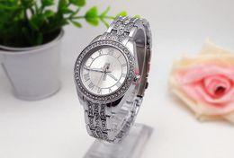 Wholesale Ladies Large Dial Watch - Rome digital surface Diamond Fashion Ladies Watch Large letters Clock dial Luxury watch Quartz Wrist Watch stainless steel men women Watches