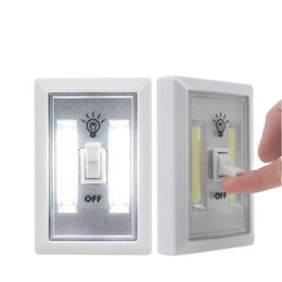 Wholesale Wholesale Wireless Cards - Hot Selling COB LED Switch Light Wireless Cordless Under Cabinet Closet Kitchen RV Night Light Fast Shipping
