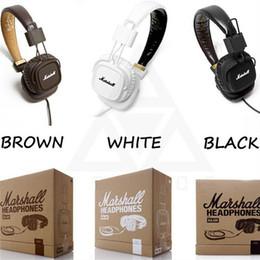 Wholesale Phone Clones - Marshall Major headphones Clone With Mic Deep Bass DJ Hi-Fi Headphone HiFi Headset Professional DJ Monitor Headphone