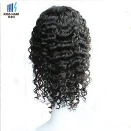 Wholesale Indian Deep Curly Hair Wig - Glueless Lace Front Wigs Brazilian Virgin Human Hair Full Lace Curly Wigs for Black Women Deep Wave Afro Kinky Curly Short Lace Wigs