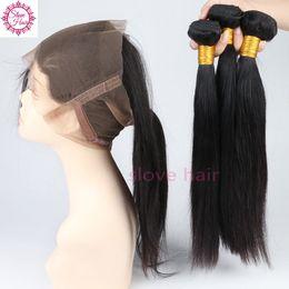 2019 34-дюймовый блондинка индийские волосы Preplucked 360 кружева фронтальная закрытие с пучками прямые бразильские девственные волосы полный кружева 22.5*4*2 волосы slove